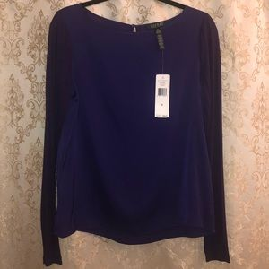Lauren Ralph Lauren Royal Purple Blouse Medium